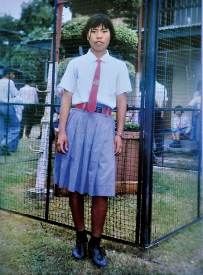 Mary Kom in her school