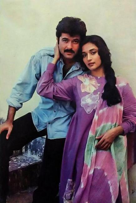 Anil Kapoor with Madhuri Dixit
