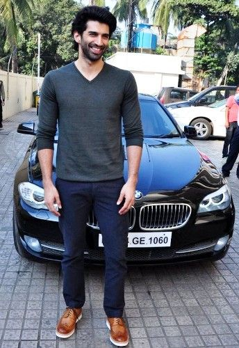 Aditya Roy Kapur with his BMW