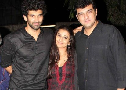 Aditya Roy Kapur with his brother and sister in law