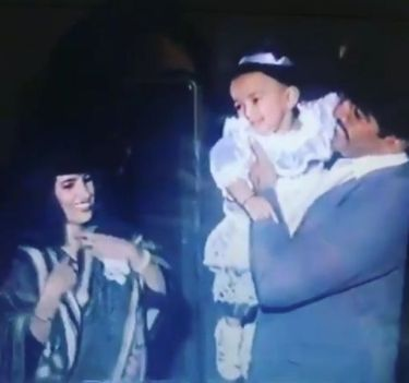 Baby Amrapali Dubey With Her Parents