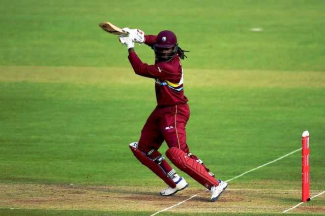 Chris Gayle playing a shot