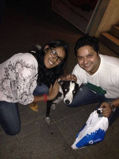 Kriti Mohan with her dog