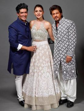 Manish Malhotra with Anushka Sharma and Shah Rukh Khan