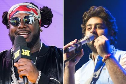 Rapper T-pain and Arijit Singh