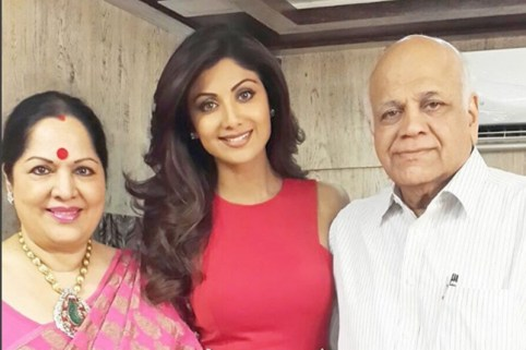 Shilpa Shetty With Her Parents