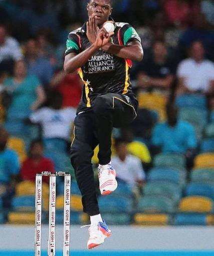 Alzarri Joseph Playing For St Kitts And Nevis Patriots