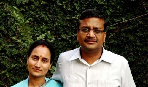 Ashok Khemka With His Wife Jyoti Khemka