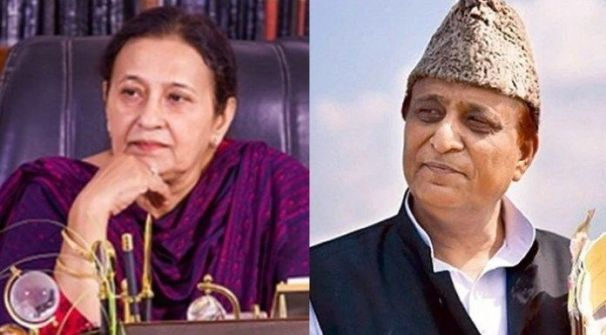 Azam Khan and his wife