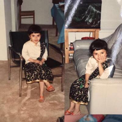 Sania Mirza childhood picture