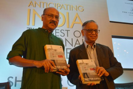 Shekhar Gupta At The Launch Of His Book Anticipating India