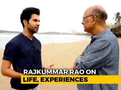 Shekhar Gupta With Rajkumar Rao In Walk The Talk