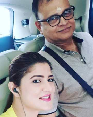 Srabanti Chatterjee With Her Father