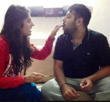 Badshah with his sister