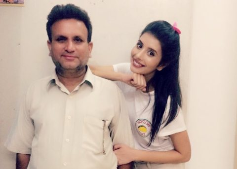 Charu Asopa With Her Father