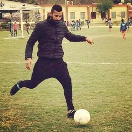 Garry Sandhu loves playing football
