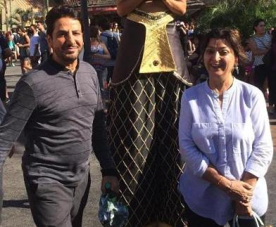 Gurdas Maan with his wife