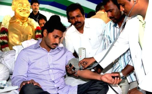 Jaganmohan Reddy during His Hunger Strike