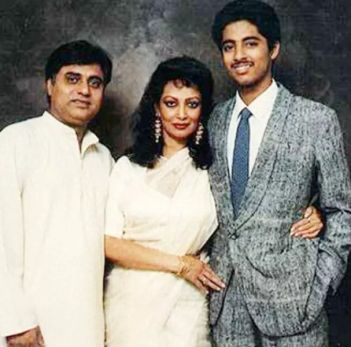 Jagjit Singh With His Wife, Chitra Singh And Son, Vivek