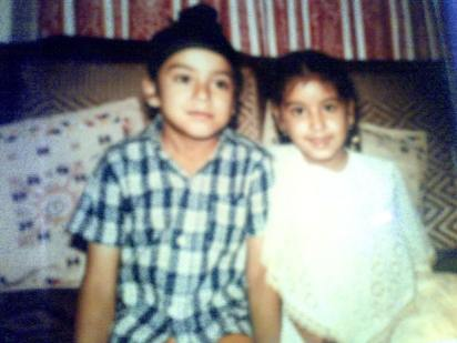 Karan Oberoi And His Sister Gurbani As A Child