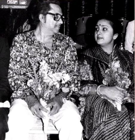 Leena Chandavarkar With Her Second Husband Kishore Kumar