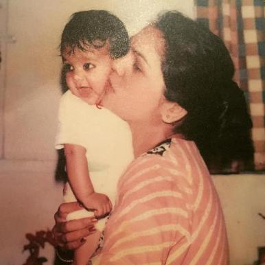 Little Esha With Her Mother