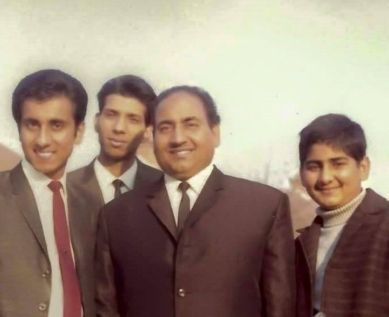 Mohammed Rafi With His Sons