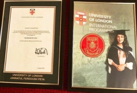 Peya Jannakul Degree- University Of London