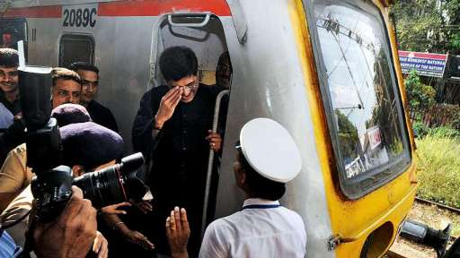 Piyush Goyal Inaugurating A Train Run By Female Drivers