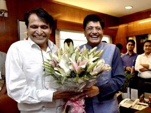 Piyush Goyal Taking Charge Of The Railway Ministry From Suresh Prabhu