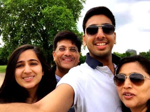 Piyush Goyal With His Family