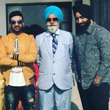 Preet Harpal with his father and brother