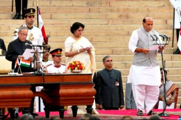 Rajnath Singh Taking Oath As The Union Home Minister Of India