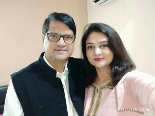 Shalini Yadav With Her Husband Arun Yadav