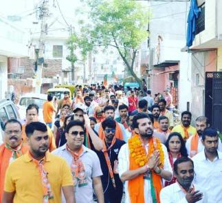 Yuvraj Hans campaigning for BJP