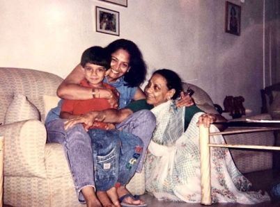 Zarina Wahab with her mother and son