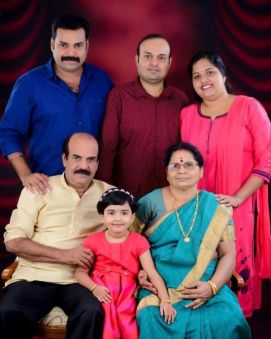 Pradeep Chandran with his Family