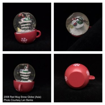 5013 2008 Red Mug Snow Globe (Asia)