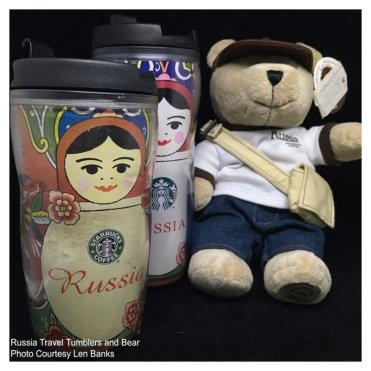 6009 Russia Travel Tumblers and Bear