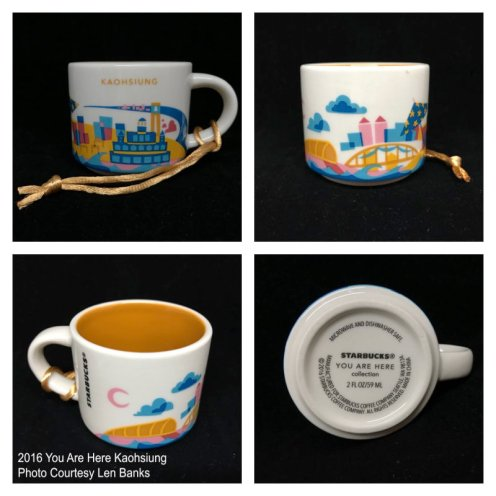 2016 You Are Here Kaohsiung Starbucks Ornament