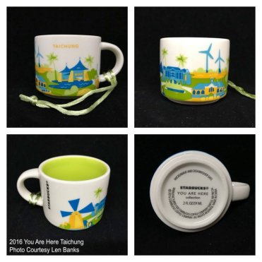 2016 You Are Here Taichung Starbucks Ornament