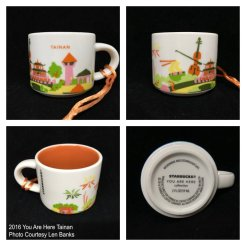 2016 You Are Here Tainan Starbucks Ornament