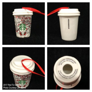 2017 Red To Go Cup Starbucks Ornament
