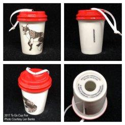 2017 To Go Cup Fox Starbucks Ornament