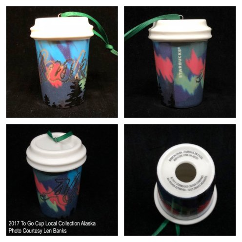 2017 To Go Cup Local Collection Alaska Starbucks Ornament