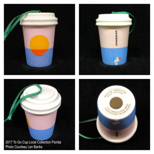 2017 To Go Cup Local Collection Florida Starbucks Ornament