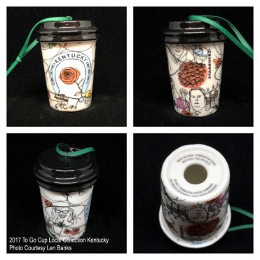 2017 To Go Cup Local Collection Kentucky Starbucks Ornament