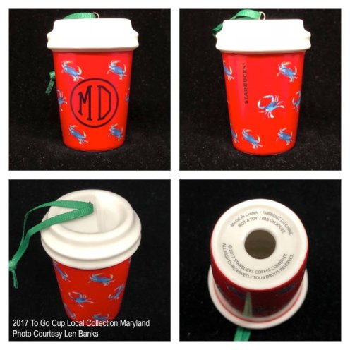 2017 To Go Cup Local Collection Maryland Starbucks Ornament