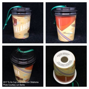 2017 To Go Cup Local Collection Oklahoma Starbucks Ornament
