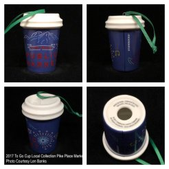 2017 To Go Cup Local Collection Pike Place Market Starbucks Ornament